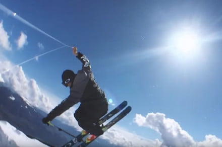 Check out this pro skier's