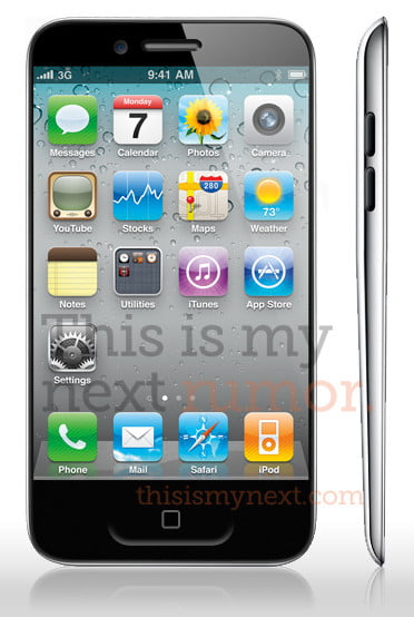 iPhone 5 mock-up