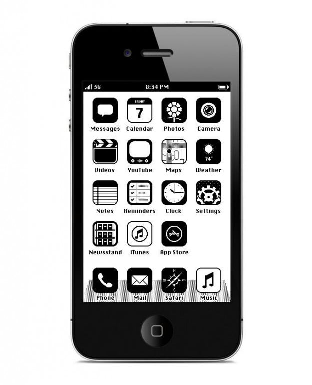 iPhone RetroOS HomeScreen