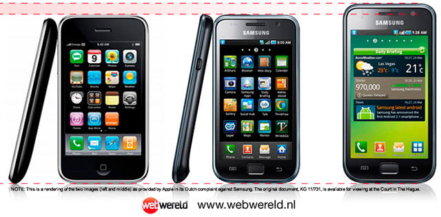 iPhone vs Galaxy S lawsuit doctored picture