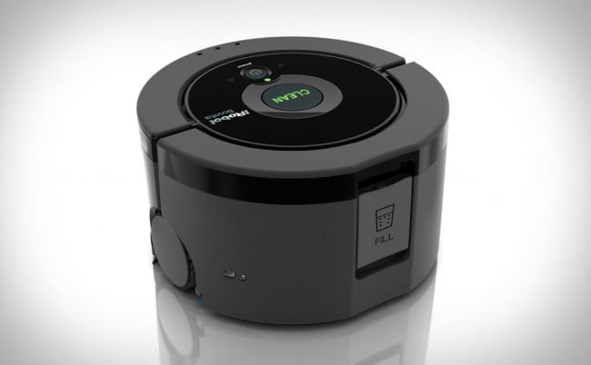 From the people that brought you the famous and awesome Roomba floor vacuum comes a tiny robot to help you clean those floors that need washing. iRobot Scooba 230 makes cleaning your bathroom a no brainer