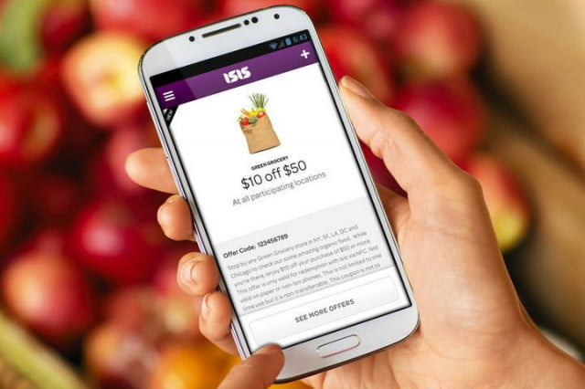 isis wireless payment system launches backing att verizon t mobile nfc payments