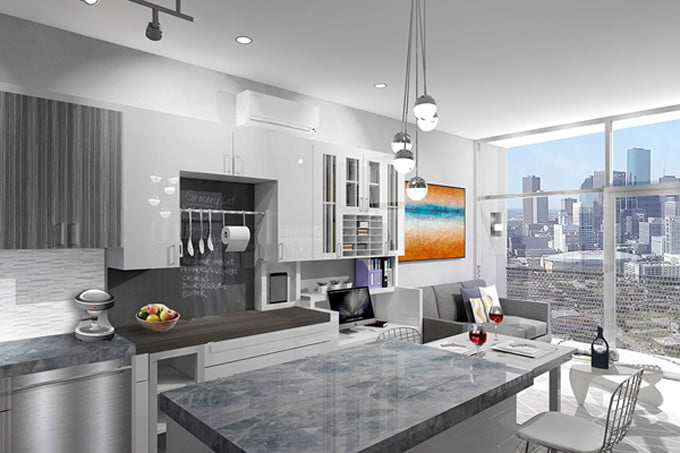 Houston 39 s ivy lofts embrace small living spaces digital for Zillow apartments houston