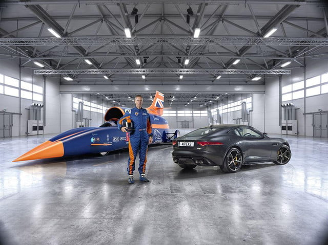 bloodhound ssc chases  mph land speed record heart jaguar