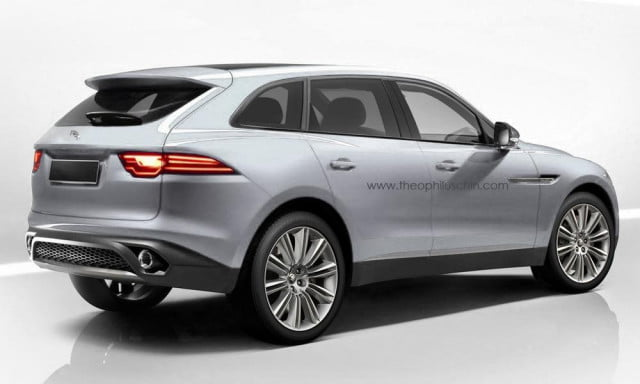 jaguar c x  renderings depict a more boring take on production version of suv rear primary