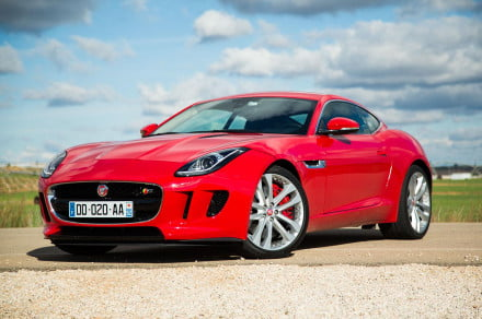 Jaguar F-TYPE Coupe front angle red