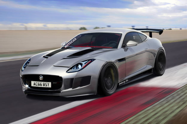 Jaguar F-Type GT rendering