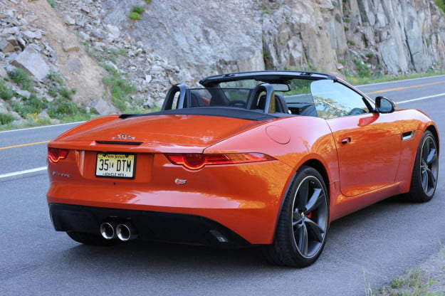 Jaguar-F-Type-rear-three-quarters