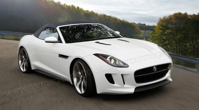 Jaguar F-Type rendering front three-quarter view