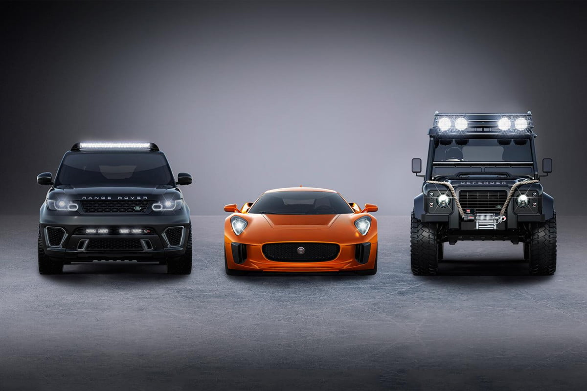 jaguar c x  and range rovers confirmed for spectre land rover