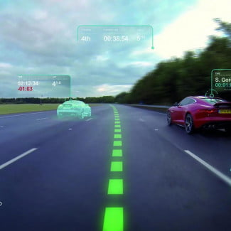 JLR Self Learning Car Virtual Windscreen