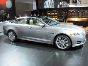 The swoopy coupe-like profile of the XJ defies the traditional three-box design of most sedans.