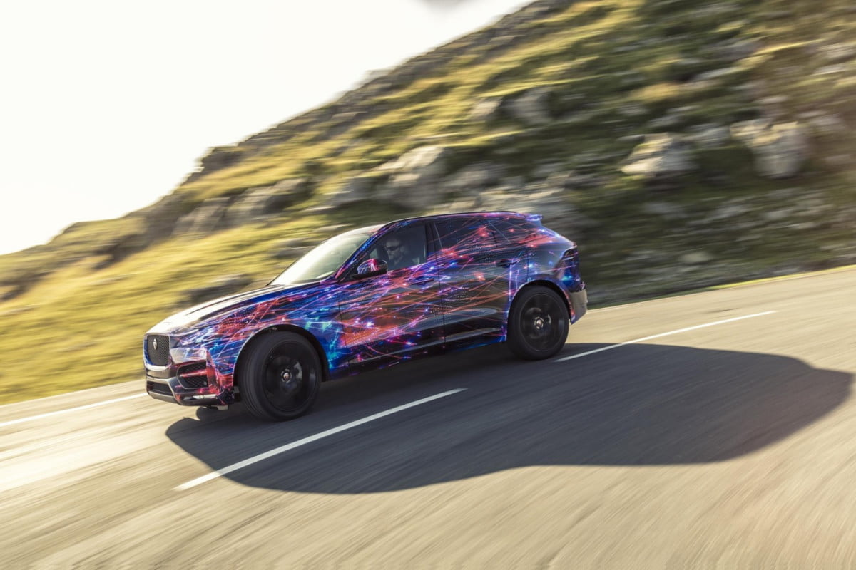 jaguar f pace chassis tech and details handling
