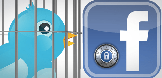 facebook and twitter are closed