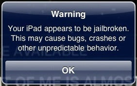 Apple Jailbreak Warning