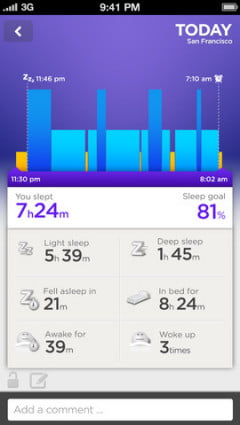 Jawbone Up iPhone application