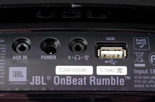 JBL speaker dock review back ports