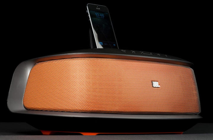 jbl onbeat rumble review speaker dock front lower angle