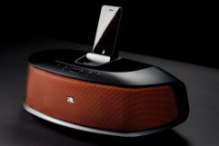 jbl onbeat rumble review speaker dock phone front angle