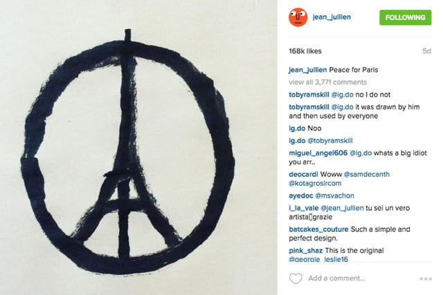jullien peace for paris artist jean