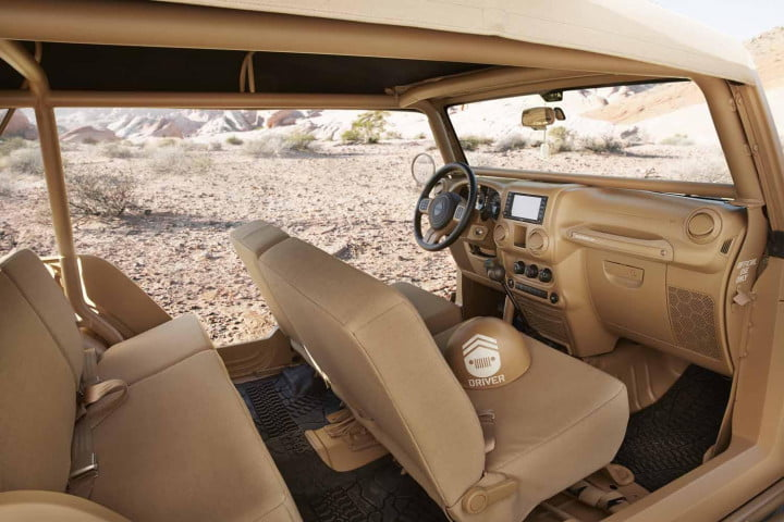 jeep sends enthusiasts to seventh heaven with seven new concepts staff car concept interior