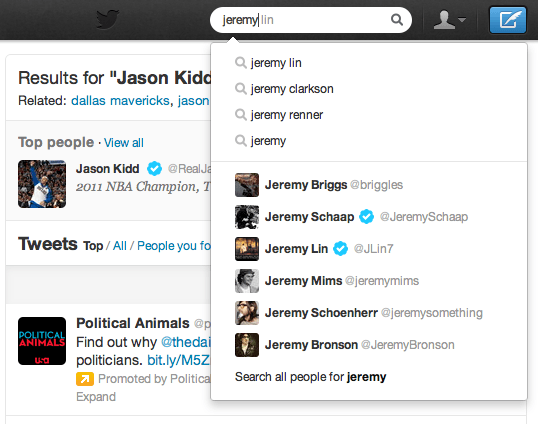 related suggestions twitter
