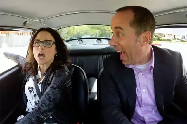 jerry seinfeld reunion julia louis dreyfus comedias in cars getting coffee and reunite