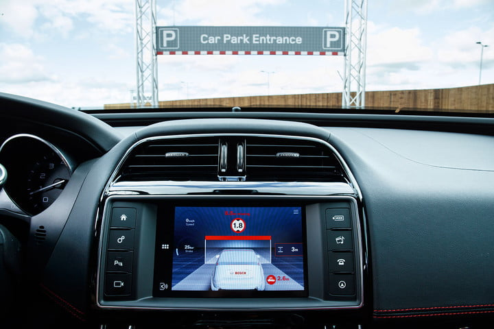 jaguar land rover technology showcase jlr overhead clearance assist