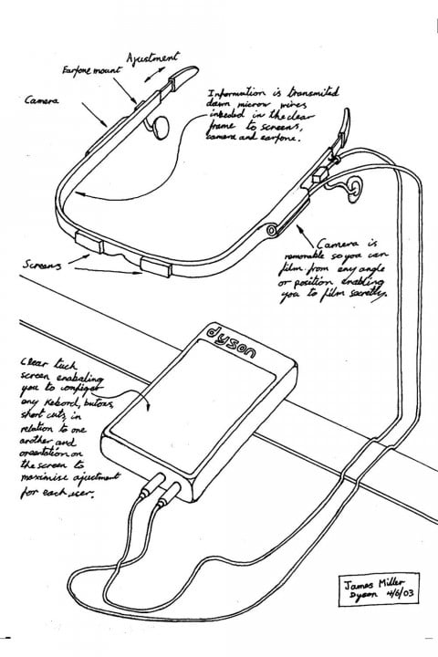 james dyson nearly invented google glass back  jm n system drawing