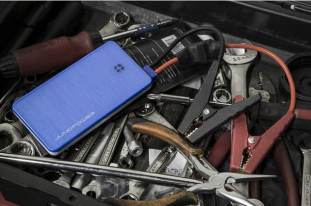 portable battery can charge phone jumpstart car junopower
