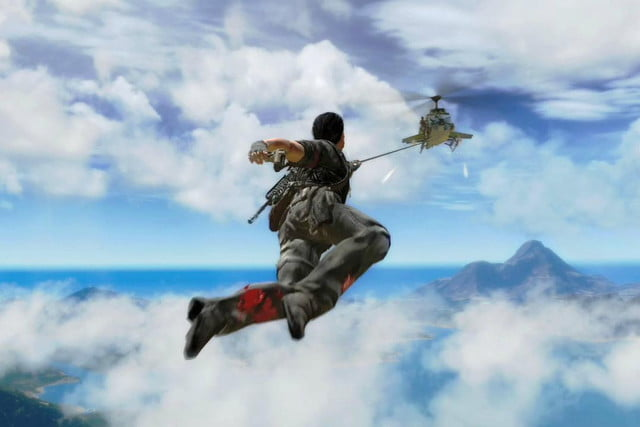 just cause  will bring parachute grappling hook insanity playstation xbox one pc
