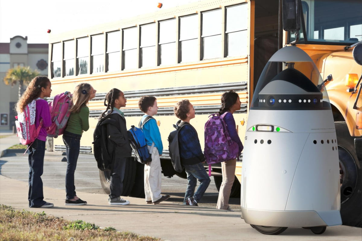 automonous robotic security guards may headed streets k  robot at school