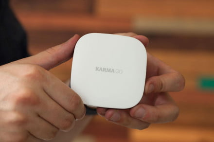 Karma Wi Fi Hotspot hands on front