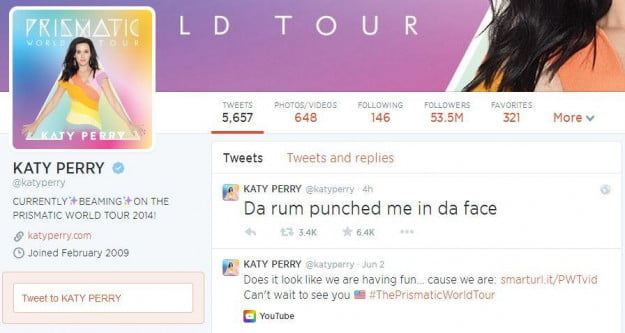 Katy Perry Twitter Account
