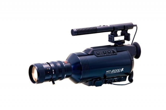 komamura falcon eye kc  first handheld full color night vision camcorder