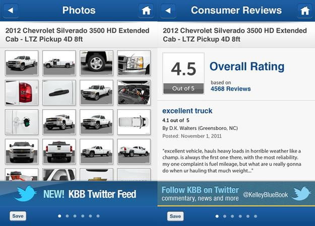 kelly blue book screenshot iphone app cars