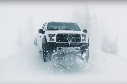 Stunt driver Ken Block takes Ford's Raptor truck for a ...