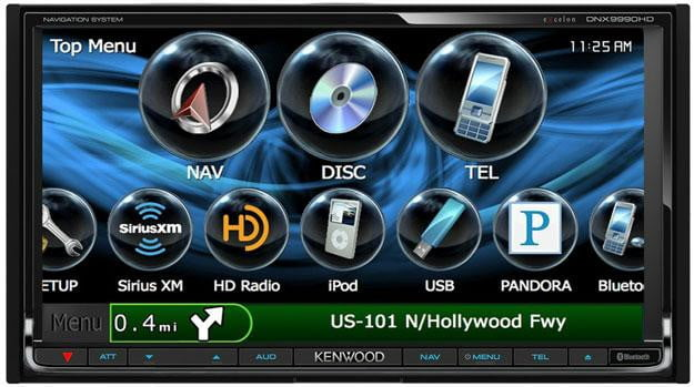 Kenwood Excelon DNX9990HD in car computer