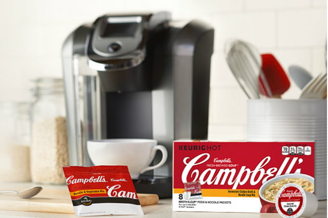 keurig coffee makers now work with campbells soup cups k cup