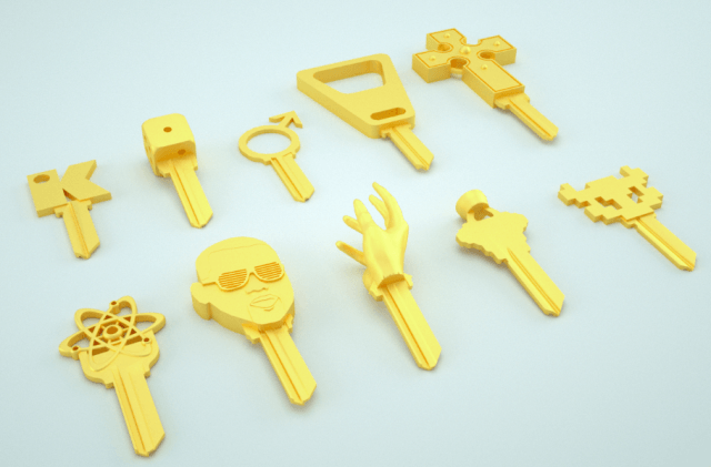 keyme joins forces shapeways bring custom  d printed key copies