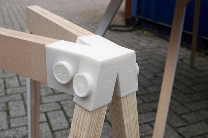 keystone connectors make furniture with a single  d printed piece keystones