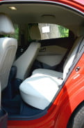 kia rio interior back seats compact 2012