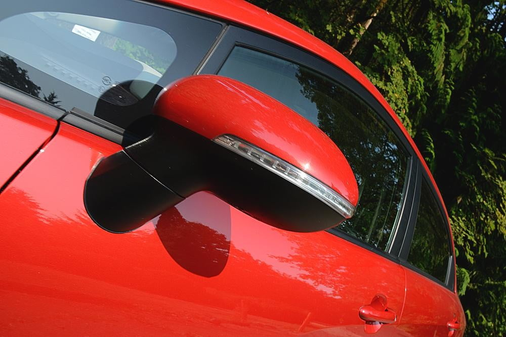kia rio review exterior side view mirror 2012