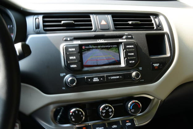 Kia Rio review interior backup camera 2012 compact