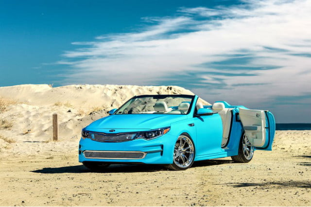 kia a optima custom convertible comes to sema