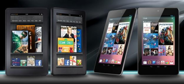 kindle fire hd 7 vs nexus 7 tablets