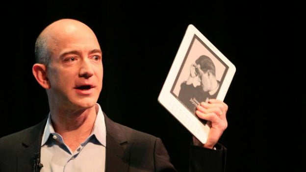 Amazon Kindle DX Jeff Bezos