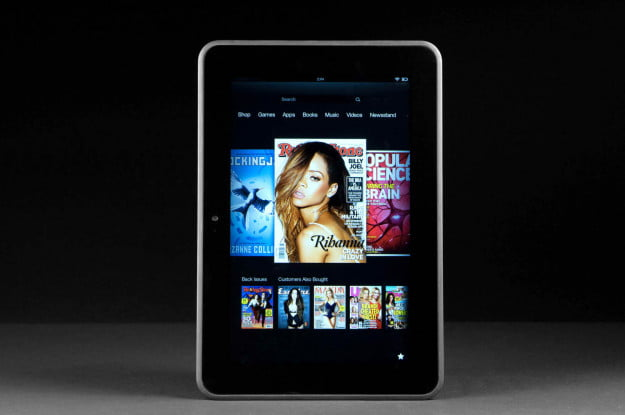kindle fire hd 8.9 media content menu