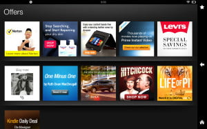 kindle fire hd 8.9 screenshot advertisements