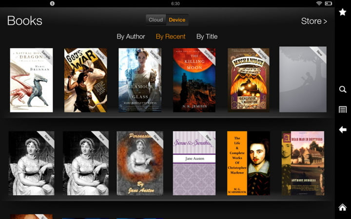 amazon kindle fire hd  review screenshot device books